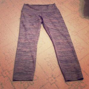 Lululemon Space Dye Pink Wunder Under Crop Pants 8